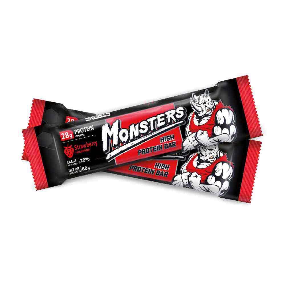 Monsters – батончик протеиновый со вкусом клубники